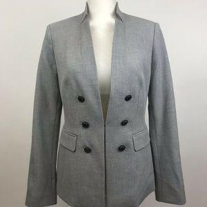 White House Black Market Gray Blazer Size 6 NWT